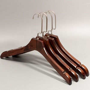 Luxury Wooden Clothes Hanger for Women with Notched for Display pictures & photos