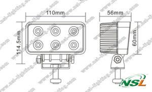 Epsitar LED Working Light 18W 10-30V LED Spot/Flood Light Waterproof LED Driving Lamp LED Bar Light pictures & photos