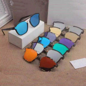 Fashion Mirror Lens Acetate Frame Sunglasses pictures & photos