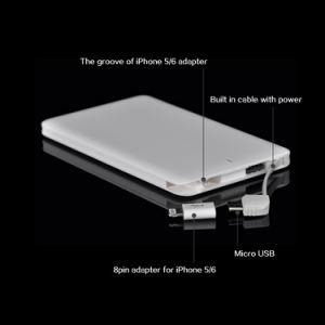 Super Slim Power Bank Micro USB Selfie CE Rohsm Certificates pictures & photos