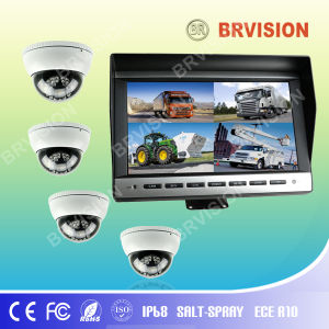 10.1inch Quad Vehicle Monitor System with Mini Dome Camera pictures & photos