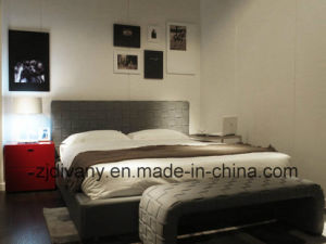 Italian Modern Style Bedroom Leather Bed (A-B41) pictures & photos