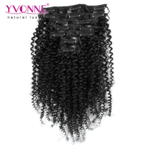 Brazilian Clip in Human Hair Extensions for Black Women pictures & photos