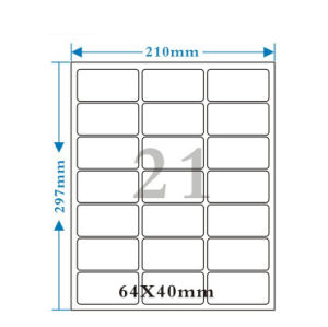 Customized OEM Self-Adhesive Blank Label pictures & photos
