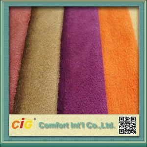 Most Popular Polyester Sofa Suede Fabric pictures & photos