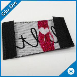 Special Shape Woven Labels for Kid′s Garment/Shoes/Schoolbag pictures & photos