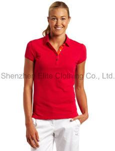 Women Customized Sleeveless Polo Shirts (ELTWPJ-396) pictures & photos