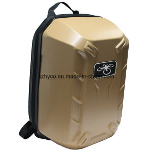 Golden Color PC Hardshell Backpack for Dji Phantom 4