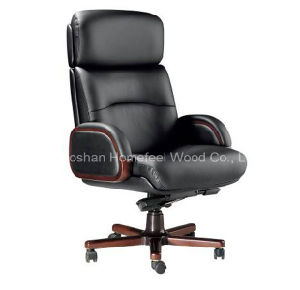 Wooden Genuine Leather Office Executive Chair (HF-SI130WF) pictures & photos