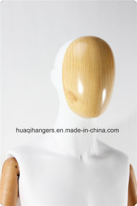 Male Fiberglass Mannequins with Wooden Arms and Metal Stand pictures & photos