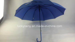 Straight Auto Open Golf Umbrella with Pongee Solid Color