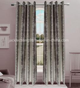 Jacquard Grommet Panel Window Curtain (HR14WT172) pictures & photos