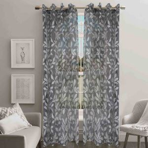 Jacquard Sheer Grommet Panel Window Curtain (HR14WT087) pictures & photos