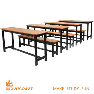 MDF Top High Quality Classroom Students Double Seat Table pictures & photos