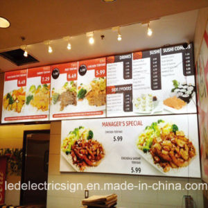 Wall Mounted Picture Frame LED Menu Board pictures & photos