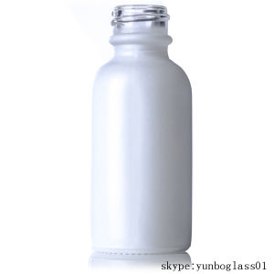 White Painting 2oz Cosmetic Glass Bottles Wholesale