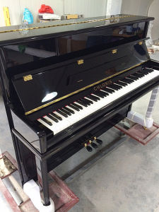 Free Shipping! ! Hu-110e Ebony Baby Acoustic Upright Piano for Sale pictures & photos