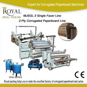 Mjsgl-3 Single Facer Line for Making 2-Layer Paperboard pictures & photos