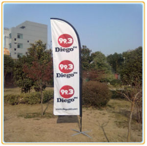 Customized Promotional Advertising Beach Feather Flag (5.5m) pictures & photos