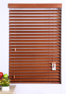 Window Wood Venetian Blinds Inside Mount Decorative Cloth Tapes Window Treatment pictures & photos