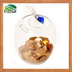 Apple Shaped Glass Coin Bank/Money Bank pictures & photos