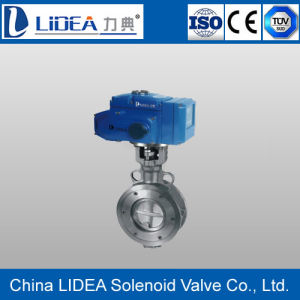 China Electric Flange Connection Hard Seal Butterfly Valve for Automatic Control