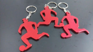 Zinc Alloy Metal Keychain with Epoxy Sticker pictures & photos