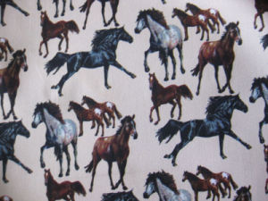 Oxford 600d Horses Printing Polyester Fabric (DS1187) pictures & photos
