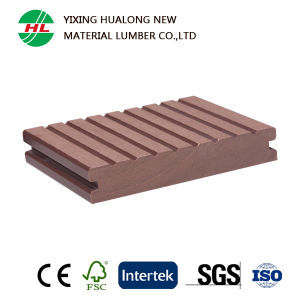 Wood Plastic Composite WPC Decking for Garden Floor (HLM37) pictures & photos