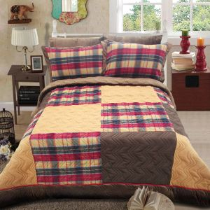 Super Comfortable Tweed Patchwork Quilt with Competitive Price
