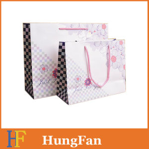 Vintage Style High Quality Paper Bag with Ribbon pictures & photos