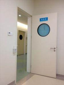 Aluminium HPL Hospital Manual Swing Door