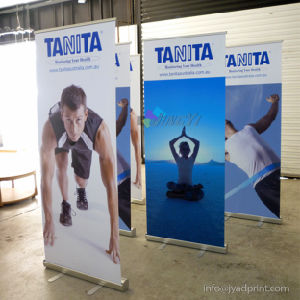 Hot Sale 80*200cm Scrolling Retractable Roll Pop up Banner Display pictures & photos