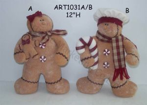 Standing Icecream and Candy Gingerbread Fellow, 2 Asst-Christmas Decoration pictures & photos