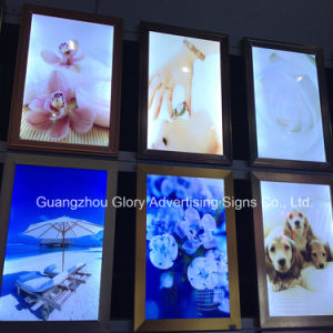 Polished Silver Aluminum Snap Frame Light Box pictures & photos