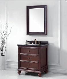 Wooden One Main Cabinet Mirrored Modern Bathroom Cabinet (JN-8819716A) pictures & photos