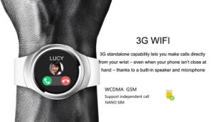 3G Streamlined New Design WiFi Smart Watch with Heart Rate Monitor pictures & photos