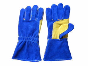 Cow Split Leather Reinforced Palm Welding Work Glove pictures & photos