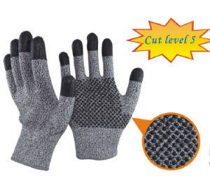 Aramid Fibers Cut Level 5 Cut Resistant Gloves pictures & photos