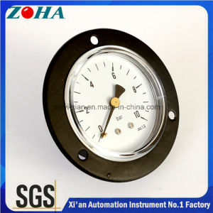General Back Connection Flange Mount Pressure Gauges with Tubular Spring pictures & photos