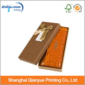 Customized Luxury Wallet Packaging Paper Box with Bow Tie (QYCI15207) pictures & photos