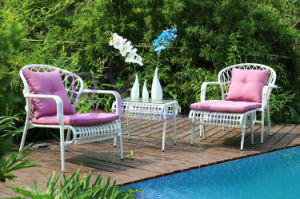 Balcony Table and Chair Three to Five Pieces Rattan Furniture pictures & photos