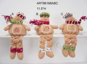 Spring Legged Gingerbread Friends, 3 Asst-Christmas Decoration Gift pictures & photos