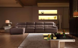 Good Quality Furniture Living Room Leather L Shape Sofa (N830) pictures & photos