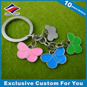 Promotional Custom Metal Butterfly Charms Keychain Gift pictures & photos