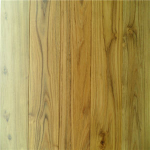 UV Lacquered Water Resistant Solid Chinese Teak Wood Flooring pictures & photos