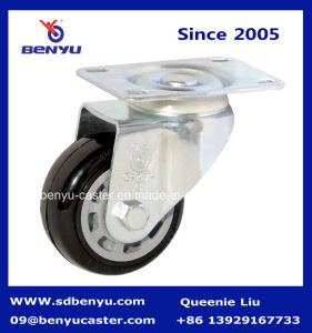 General Duty Solid PU Full Size Side Mount Locking Castor Wheel pictures & photos