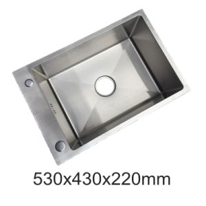 Stainless Steel Handmade Sink for Kitchen Single Bowl (YX5343)