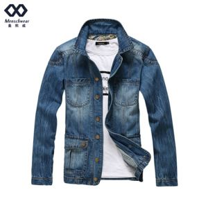 Men Demin Overcoat Ready Made Fashion Jacket