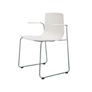 Fixed Dining Bar Chair with Stainless Steel Frame (FS-704B white) pictures & photos